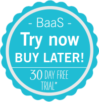 BAAS try now badge